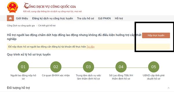 Hướng dẫn đăng ký online nhận trợ cấp COvid